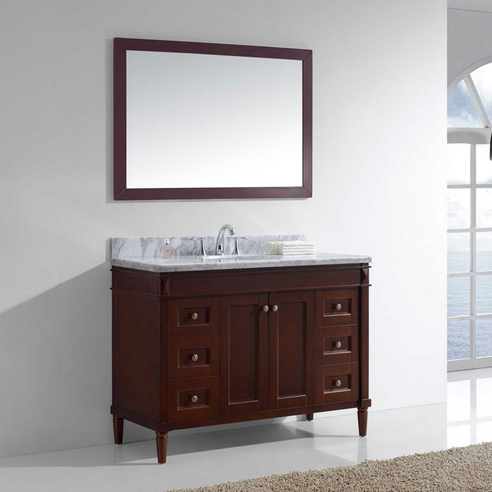 single bathroom vanities