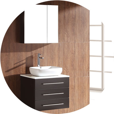 Bathroom vanities los angeles polaris home design for Wall mounted bathroom vanity cabinet only