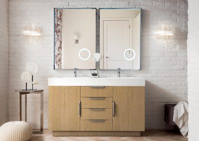 Bainbridge 59 Double Vanity, Tribeca Oak