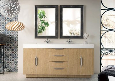 Bainbridge 72 Double Vanity, Tribeca Oak