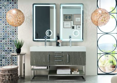 Columbia 59 Double Vanity, Ash Gray