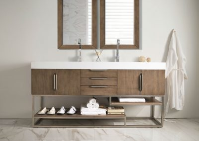 Columbia 72 Double Bathroom Vanity, Latte Oak