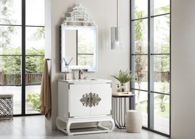 Echo Park 30 Single Vanity, Glossy White