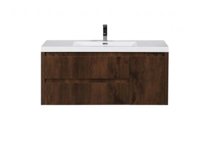 JADE 48 ROSEWOOD MOUNTED MODERN BATHROOM VANITY WITH ACRYLIC SINK