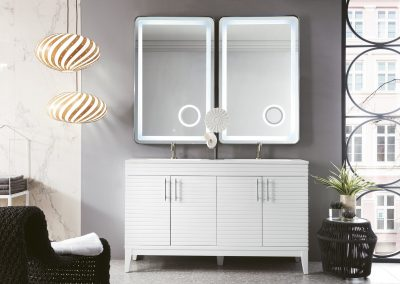 Lineage 59 Double Vanity, Glossy White