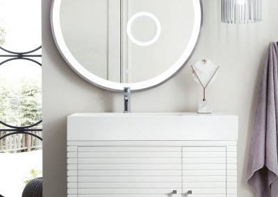 Linear 36 Single Vanity, Glossy White