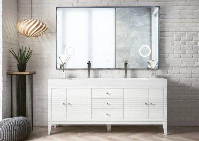Linear 72 Double Vanity, Glossy White