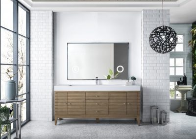 Linear 72 Single Vanity, White Washed Walnut