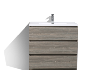 MOA 36″ MAYPLE GREY MODERN BATHROOM VANITY W 3 DRAWERS AND ACRYLIC SINK