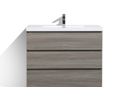 MOA 42″ MAYPLE GREY MODERN BATHROOM VANITY W 3 DRAWERS AND ACRYLIC SINK