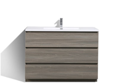 MOA 48″ MAYPLE GREY MODERN BATHROOM VANITY W 3 DRAWERS AND ACRYLIC SINK