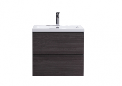 MOB 24 BLACK GREY OAK WALL MOUNTED MODERN BATHROOM VANITY WITH REEINFORCED ACRYLIC SINK