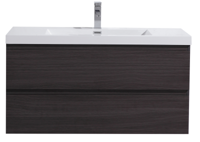 MOB 42 DARK GREY OAK WALL MOUNTED MODERN BATHROOM VANITY WITH REEINFORCED ACRYLIC SINK
