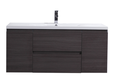 MOB 48 DARK GREY OAK WALL MOUNTED MODERN BATHROOM VANITY WITH REEINFORCED ACRYLIC SINK