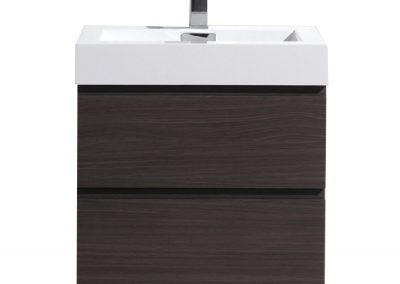 MOF 24 DARK GREY OAK WALL MOUNTED MODERN BATHROOM VANITY WITH REEINFORCED ACRYLIC SINK
