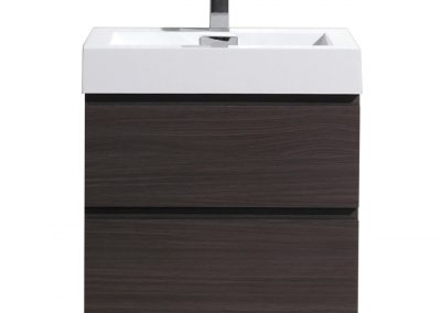 MOF 30 DARK GREY OAK WALL MOUNTED MODERN BATHROOM VANITY WITH REEINFORCED ACRYLIC SINK