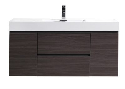 MOF 48 DARK GREY OAK WALL MOUNTED MODERN BATHROOM VANITY WITH REEINFORCED ACRYLIC SINK
