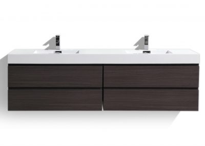MOF 80 DARK GREY OAK WALL MOUNTED MODERN BATHROOM VANITY WITH REINFORCED ACRYLIC SINK