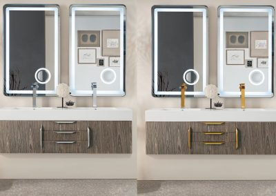 Mercer Island 59 Double Bathroom Vanity, Ash Gray