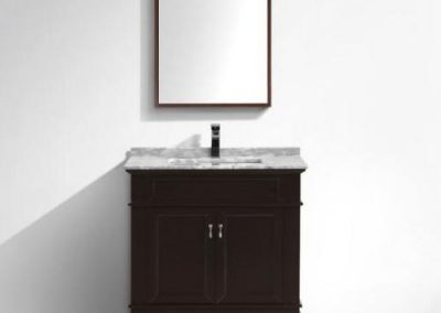 Moreno Fayer 36 Espresso Bathroom Vanity With Carrara Marble Top