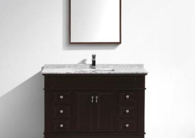 Moreno Fayer 48 Espresso Bathroom Vanity With Carrara Marble Top