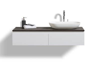 OVAI 48 WALL MOUNT MODERN BATHROOM VANITY WITH VESSEL SINK RIGHT