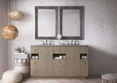 Seaside 60 Double Vanity, Silver Apricot