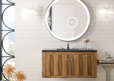 Silverlake 36 Single Vanity, Natural Applewood