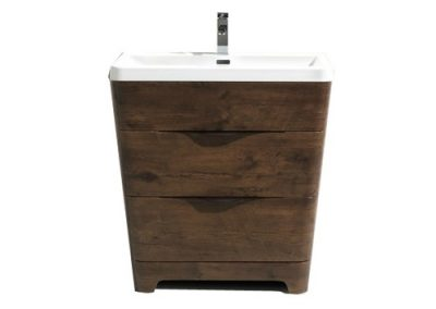 Willim 32 Rosewood Finish Vanity With Acrylic Sink